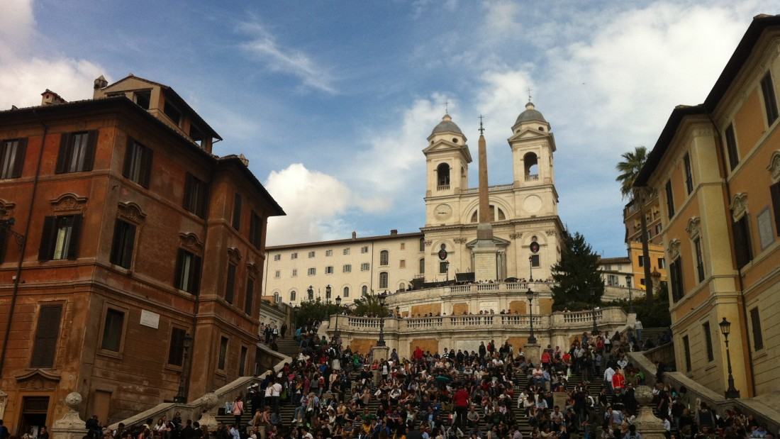 Piazza di Spagna. Rome, Italy. Copyright 2013 Mary M. Tedesco. ORIGINS ITALY.